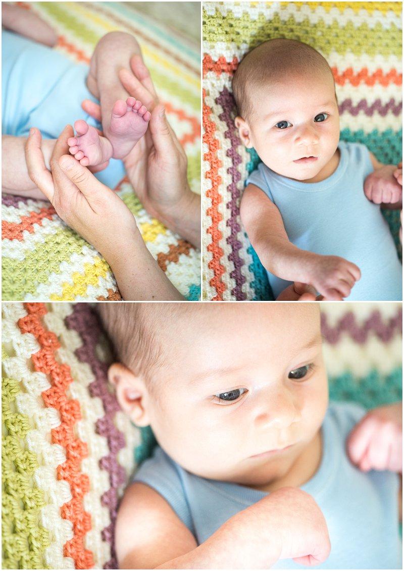 Beautiful baby during photo shoot 8 weeks old Lancashire