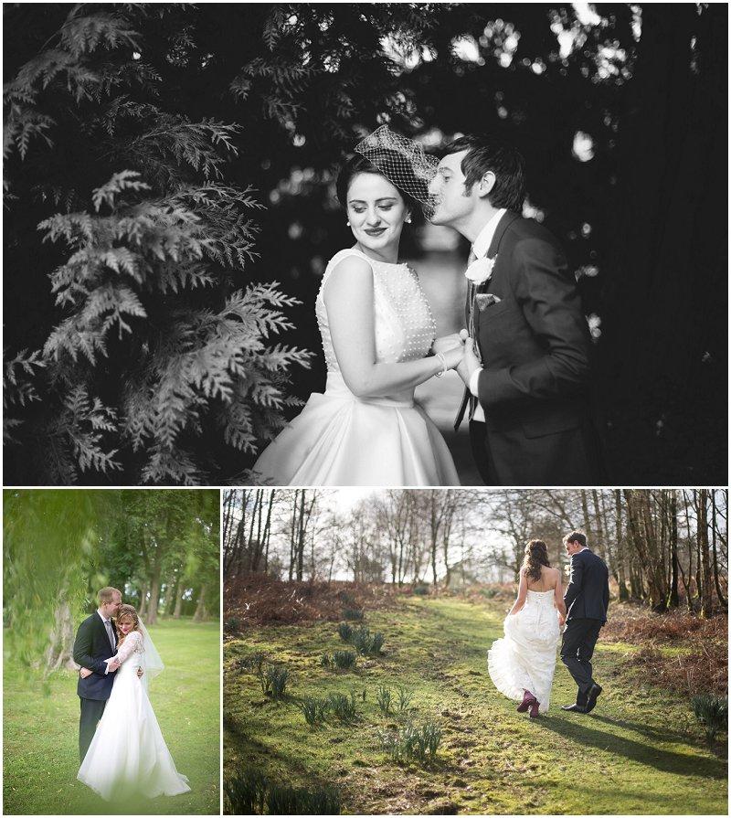 Happy couples on wedding day