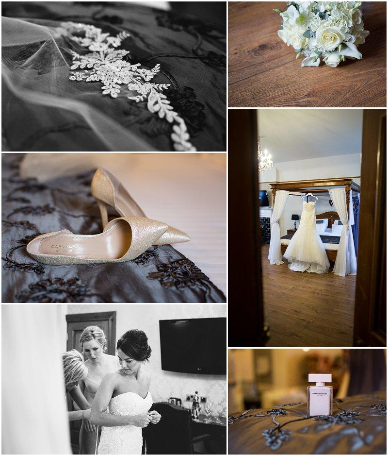 Bridal detail shots at West Tower Wedding