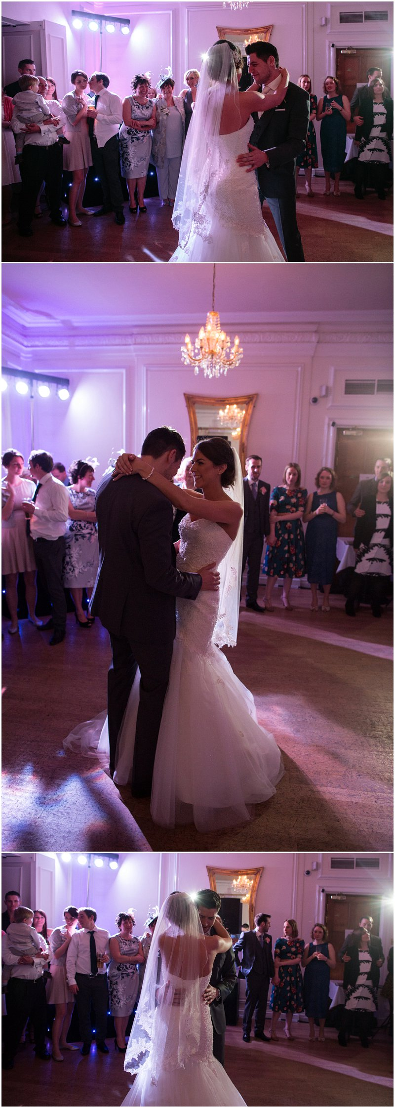 Evening dancing at West Tower Wedding Venue