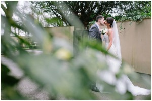 Bride and groom at West Tower Photography session