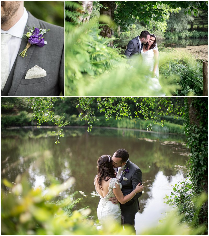 Bride and Groom Portraits at Windermere Wedding
