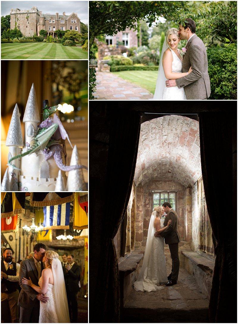 Wedding Photography Comlongon Castle Scotland