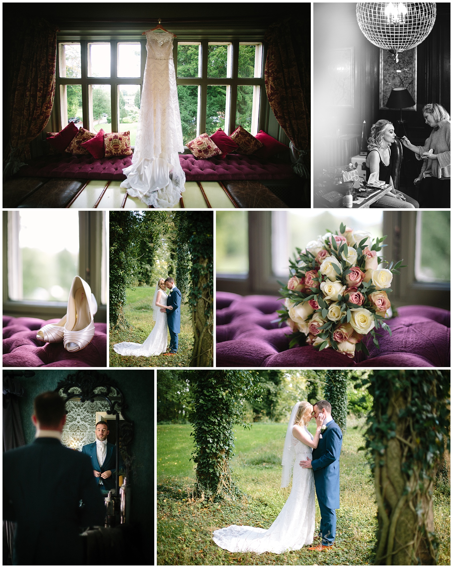 Wedding sneak peek at Mitton Hall photographs