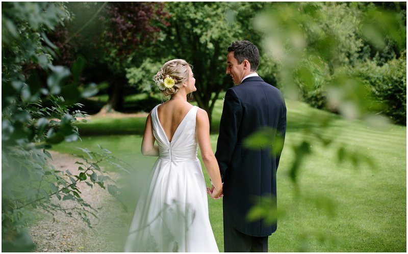 Gorgeous bride and Groom portrait at Mitton Hall