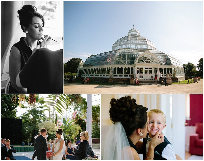 Sefton Park bride getting ready for wedding photographer Palm House