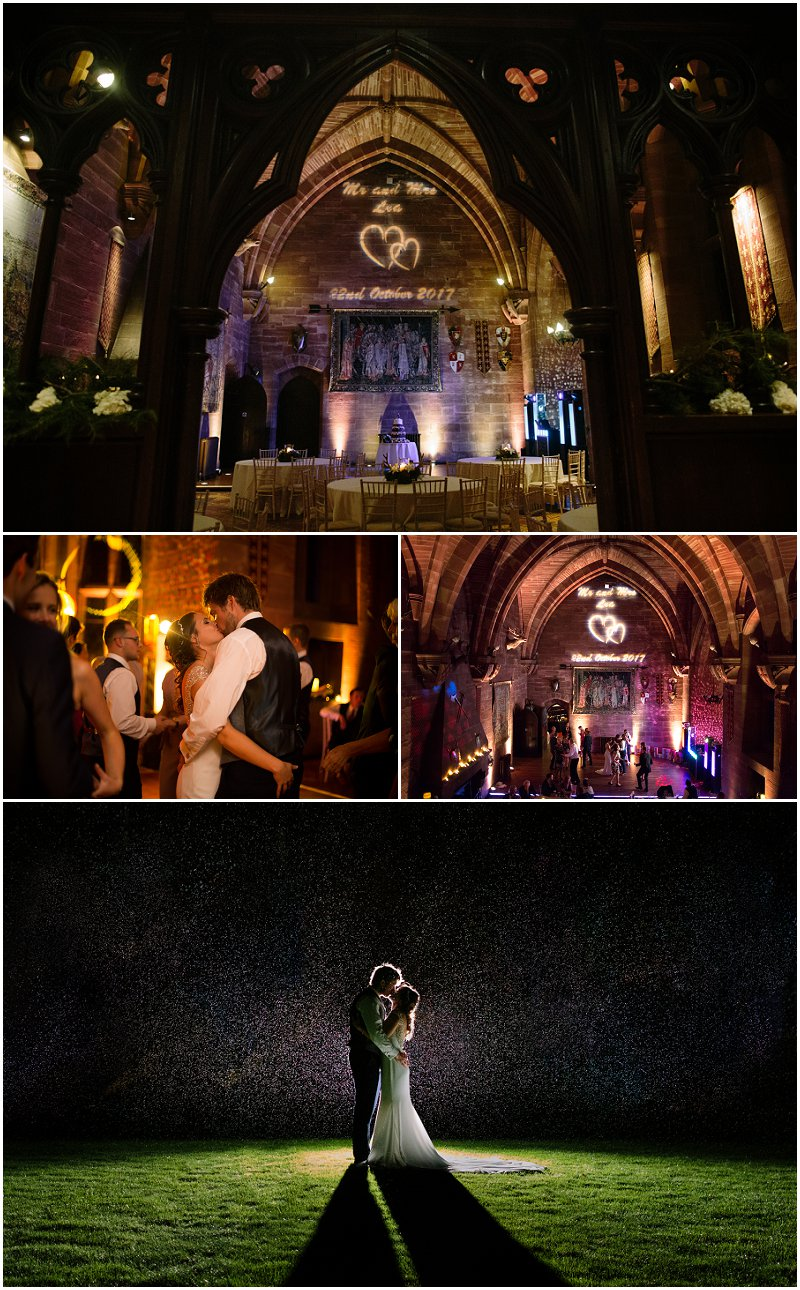 Evening Reception at Peckforton Castle Wedding