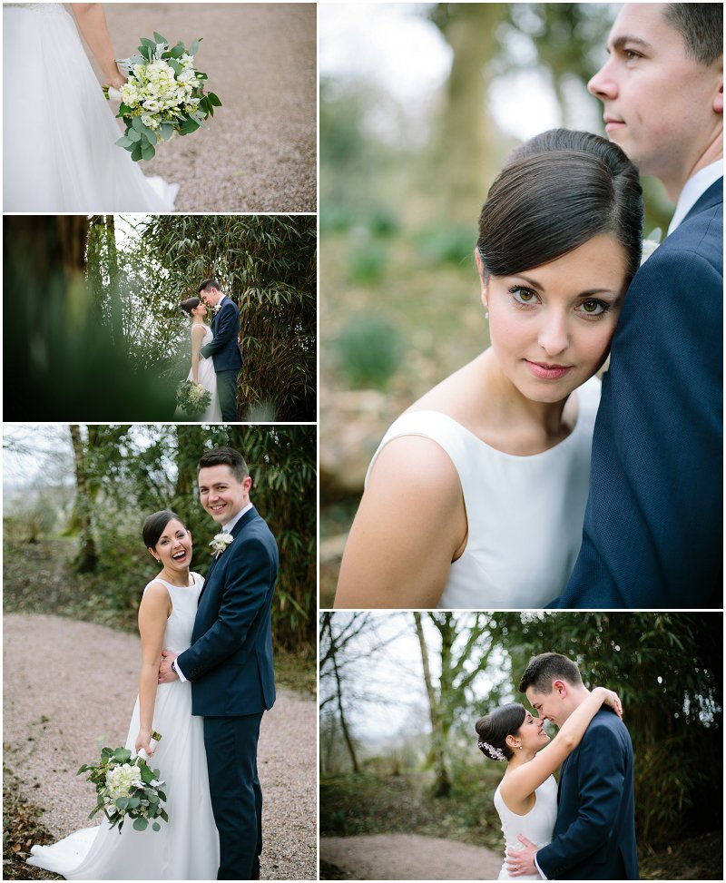 Bride and Groom Portraits Eaves Hall Photography Wedding