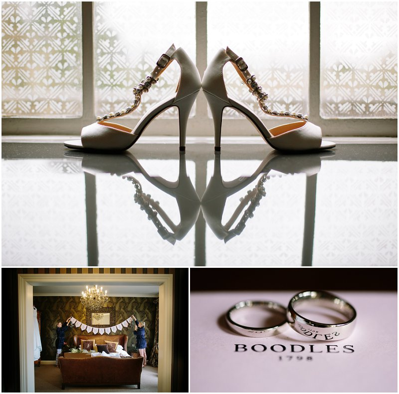 Detail photographs wedding at Eaves Hall