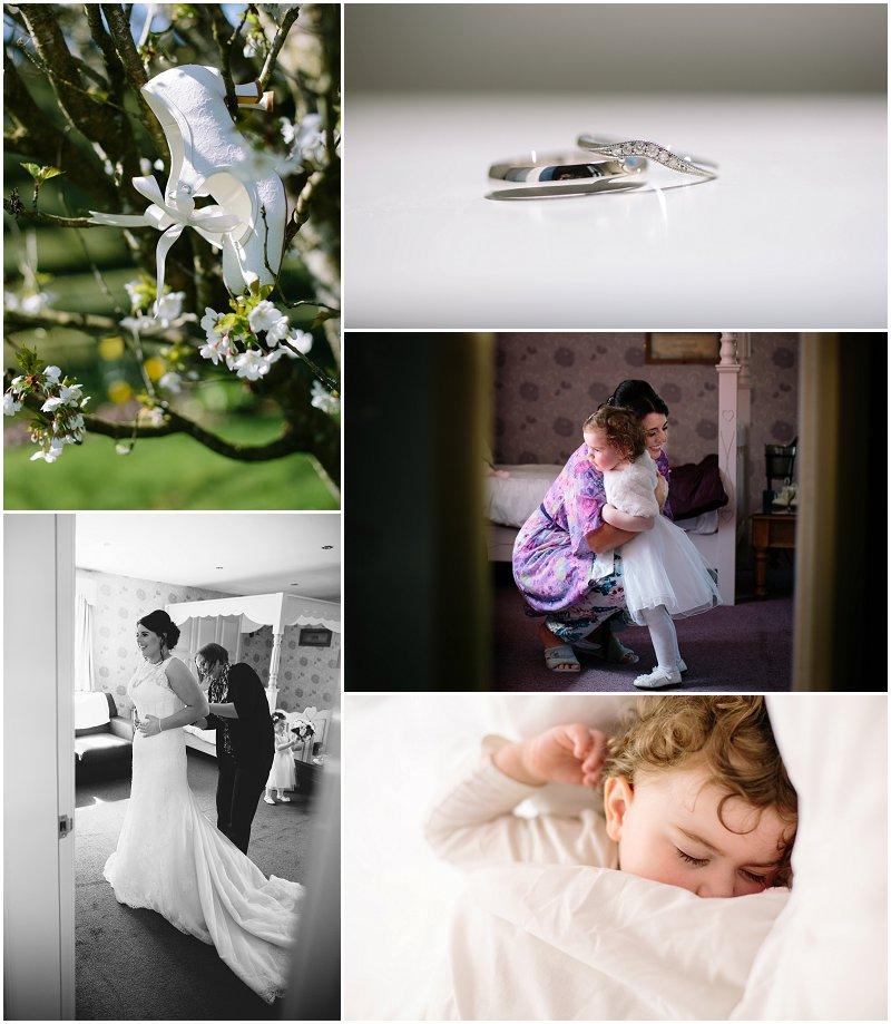 Wedding Photographer Gretna Green bride prep photographer The Mill