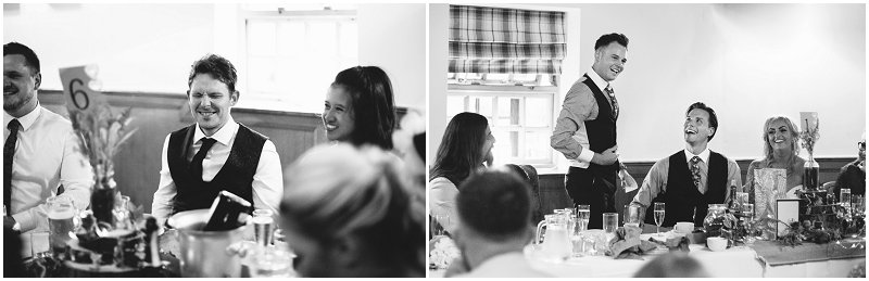 Black and white documentary wedding photographer