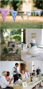 Wedding details and speeches at rustic wedding