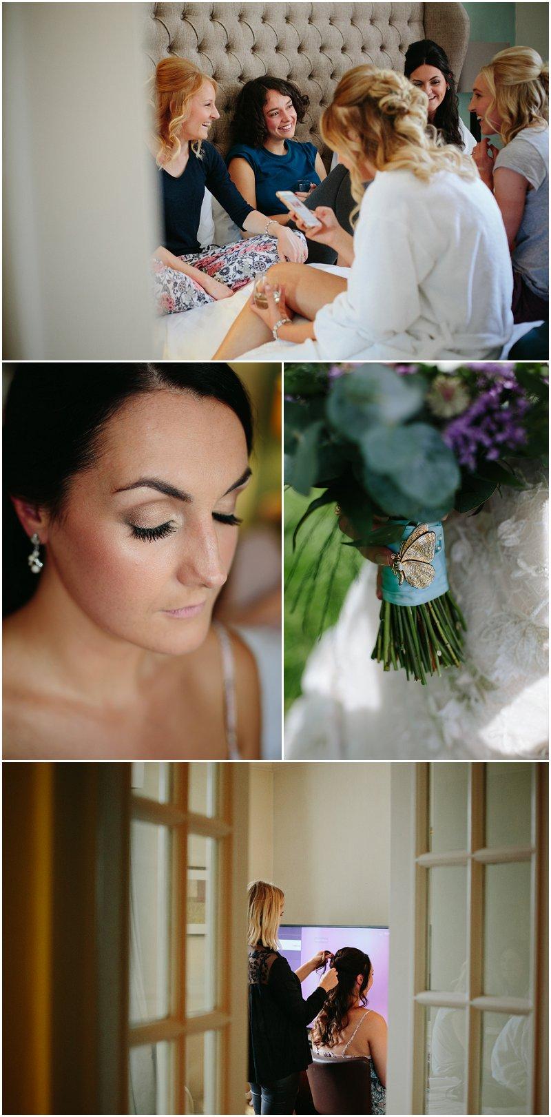 Bride Prep Bashall Barn Clitheroe
