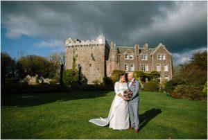 Moody sky wedding photos