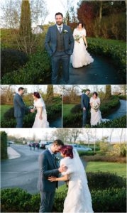First Look Smiths Hotel Gretna Green Wedding