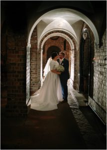 Archway bride and groom Anvil Hall