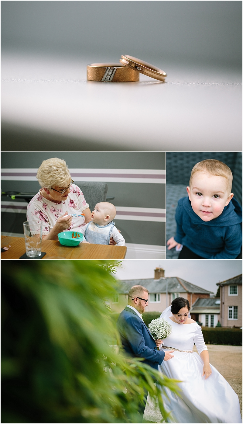 Bride prep photos and bride and groom gretna green