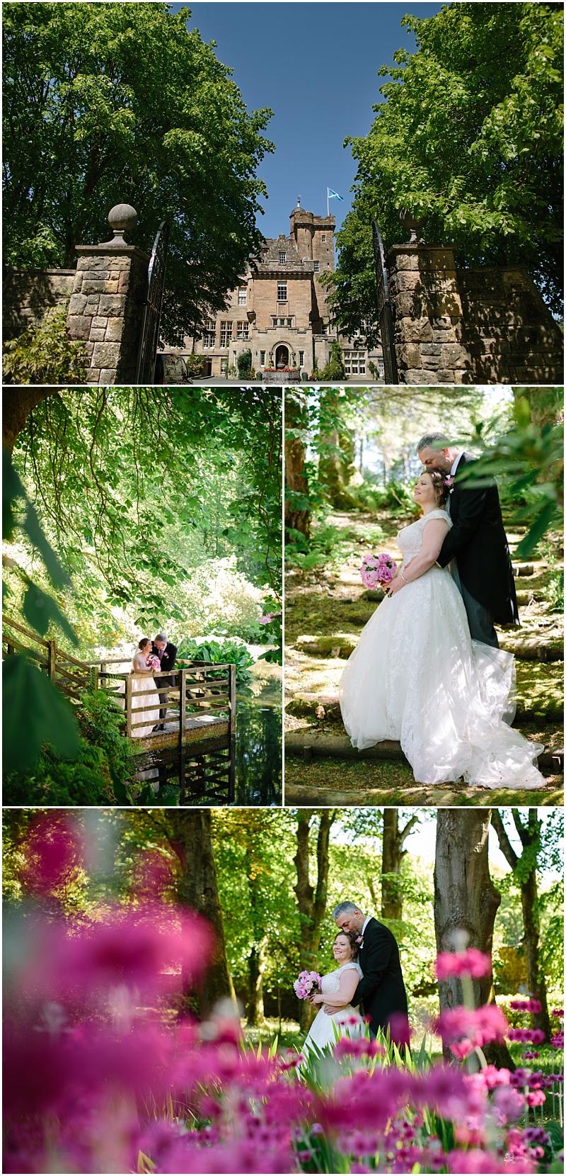 Glenapp Castle Gardens wedding