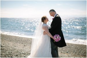 Glenapp Castle Wedding on Beach Scotland