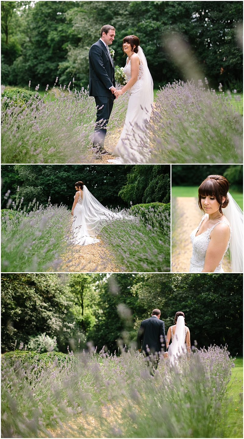Bride and groom in fields of Lavender