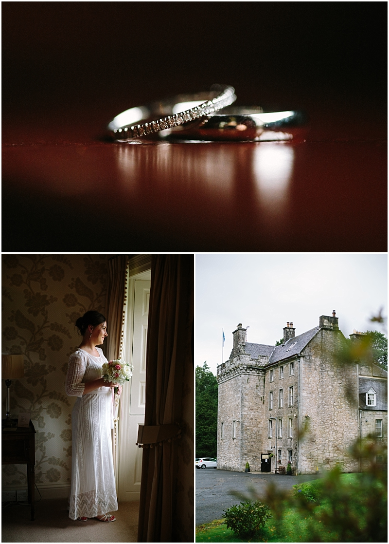beautiful wedding photography at Culcreuch castle scottish elopmement