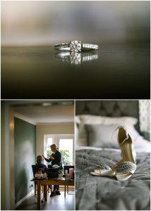 Wedding bride prep engagement ring